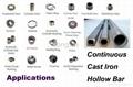 continuous cast iron hollow bar