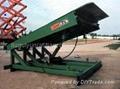 Stationary hydraulic yard leveler