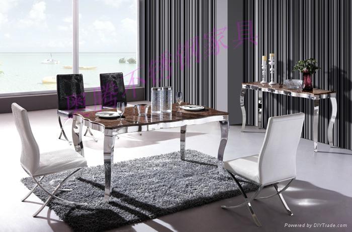 奧騰不鏽鋼傢具T1611餐桌 1