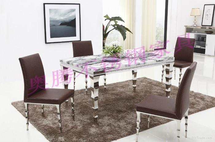 奧騰不鏽鋼傢具T1805餐桌 1