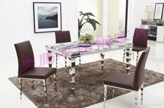 奥腾不锈钢家具T1805餐桌