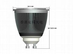 6W LED GU10調光射燈 小體積 高流明 高功率 高光效