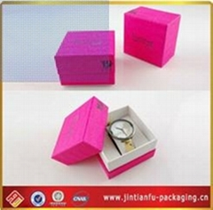 delicate cardpaper red stamping watch packaging box
