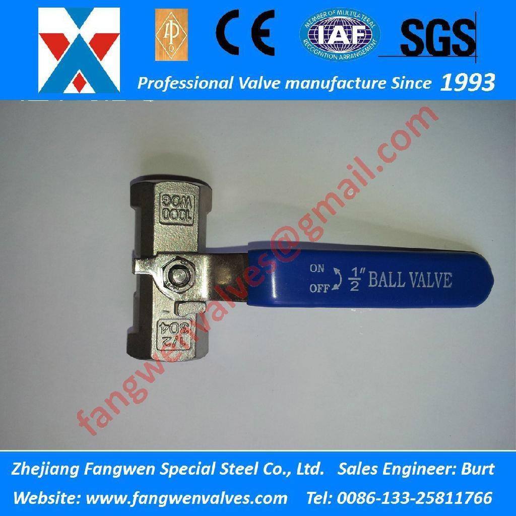 一片式 (1PC)1000WOG SS304 SS316  内螺纹球阀 1