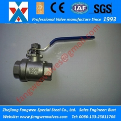 Tow-Piece (2PC) Economic Type 1000PSI CF8 CF8M Screwed Ball Valves (Hot Product - 1*)