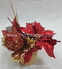 Poinsettia flower pot