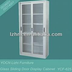 Glass Sliding Door Lockable Display Cabinet YCF-625