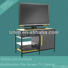 Multifunction Steel Plasma TV Stand Cabinet YCY-0804
