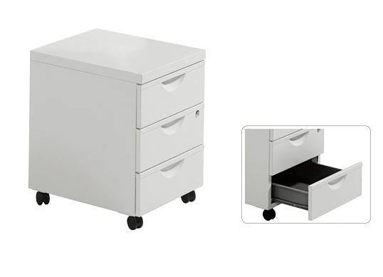 3 Drawer Steel Mobile Filing Cabinet LZ-2302 - LZ-2302 - Lizi ...