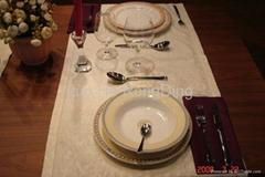 Bone China Dinner set with OEM Flower
