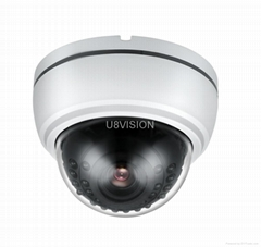 1.3MP HD 720P Fixed Dome IP Camera-Vandalproof