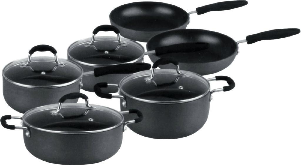LJ  Non-stick Cookware Set-Hard-anodized- Factory 1