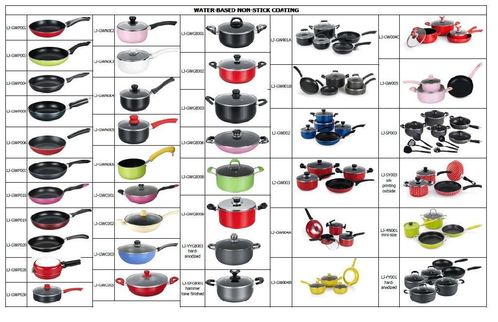 LJ  Non-stick Cookware Set-Hard-anodized- Factory 2