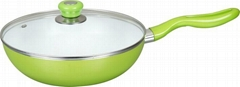 LJ Ceramic Non-stick Wok with Lid- Cookware (SET)- Factory
