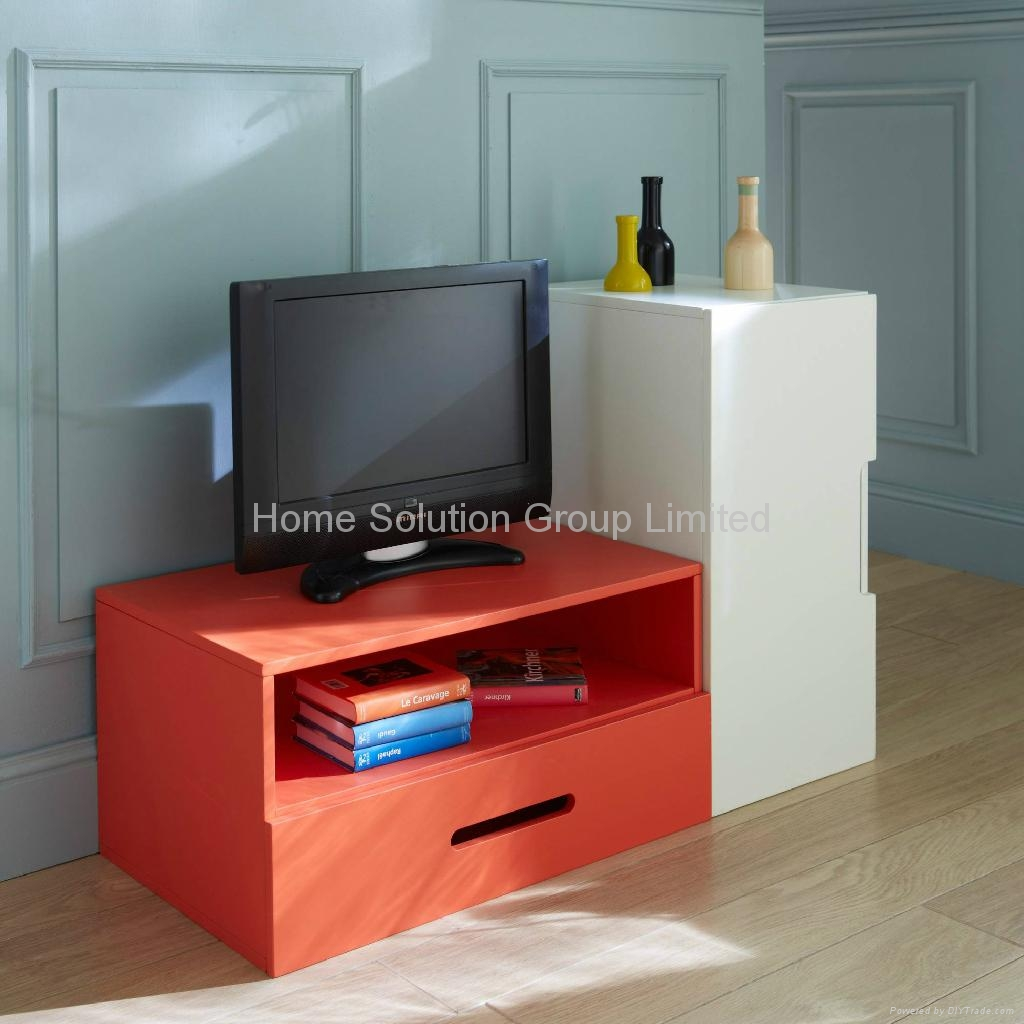 Mdf colorful tv stand cabinet 1