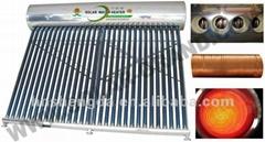 copper coil solar water heater