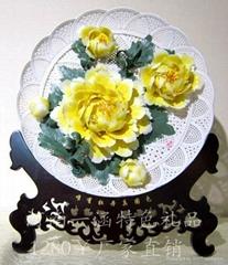 牡丹瓷盤姚黃