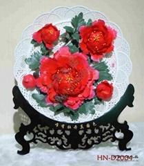 洛陽牡丹瓷洛陽紅五朵