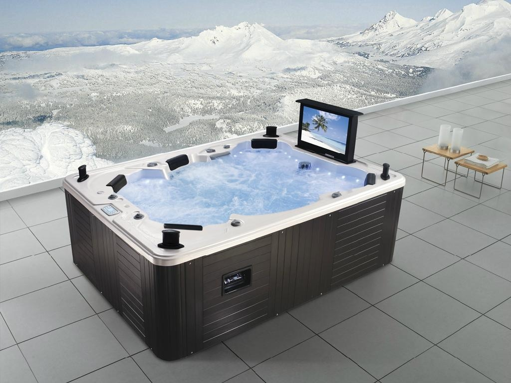 Monalisa luxury outdoor spa jacuzzi with tv m 3342 china for Whirlpool garten mit moderne pflanzkübel innen