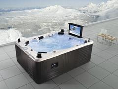 Monalisa Luxury outdoor spa jacuzzi with TV M-3342