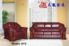 Leather sofa A13#