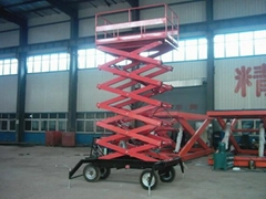 Hydraulic Four Wheel Mobile Scissor Lift Platform