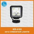"15W 4"" Square LED Work Spot light for Truck Trailer SUV JEEP Off-road Boat 1"