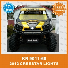 "Single Row 11"" 60W CREE Led Work Light Bar For Mining Boat"