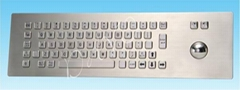 metal keyboard with track ball size 431*126(mm)