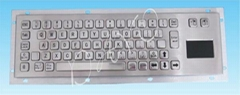 metal keyboard with touch pad size 330*100(mm)