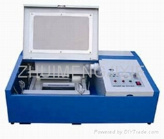Laser stamp engraving machine