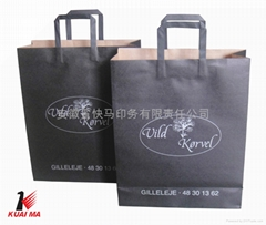2013 popular kraft paper bag with printing