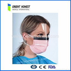 Disposable non woven fluid shield mask