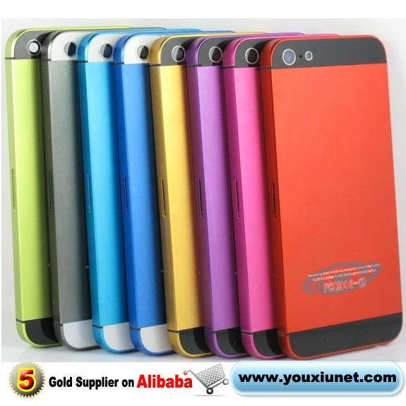 For iPhone 5 Middle Frame Bezel Back Cover Housing Case Red Pink Yellow  Pink 1 a5cbf87726