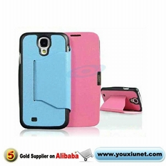 for Samsung Galaxy S4 i9500 i545 i337 L720 M919 leather case