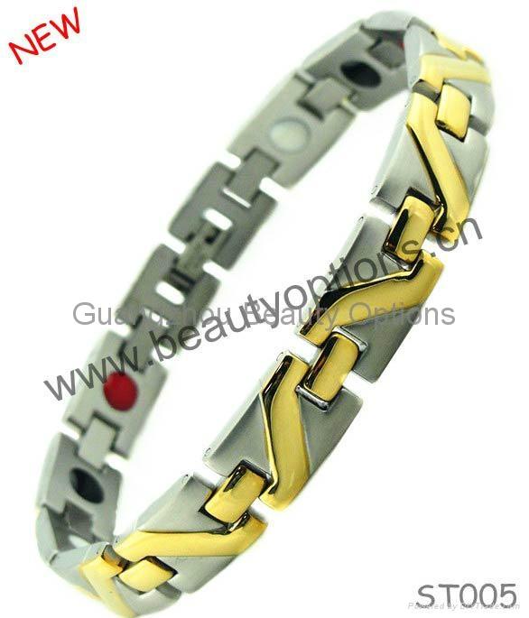 Fashion stainless steel magnet bracelet  1