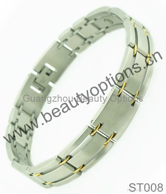 Fashion stainless steel magnet bracelet  3