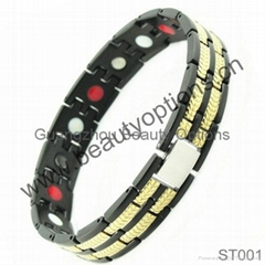 Cool black with gold colr health care magnetic bracelet