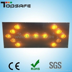 LED traffic trailer sign  mounted LED arrow board