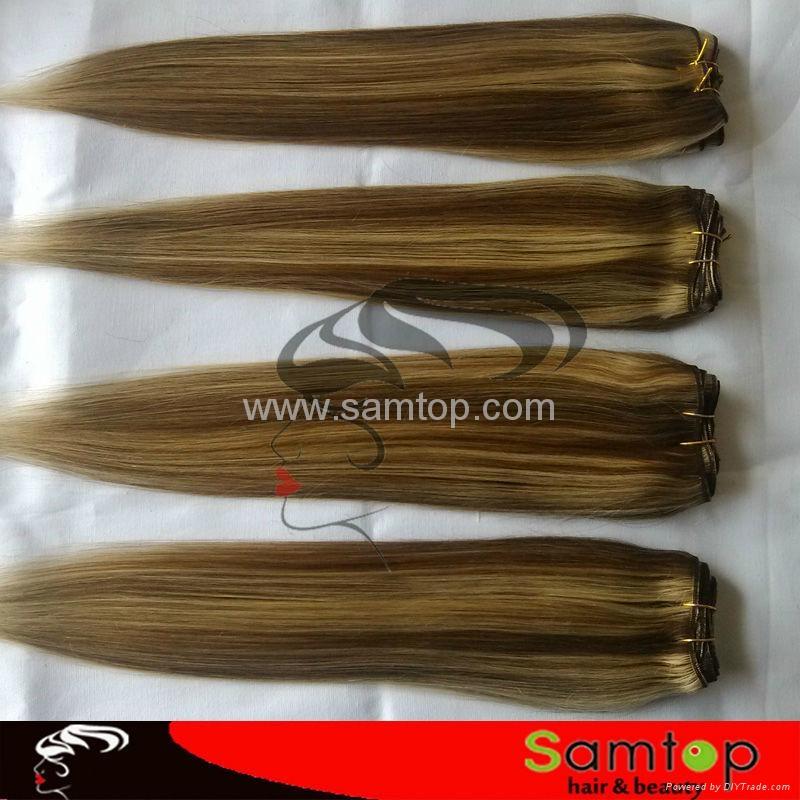 Wholesale Price  virgin clip in hair extension 3