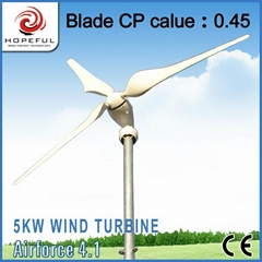 Green and renewable power for 5kw wind generator