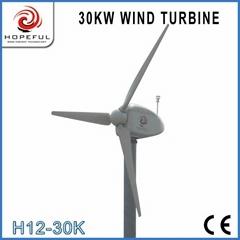 Alternative green energy for 30kw wind generator