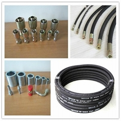 Hydraulic Rubber Hose With Fittings To US Market
