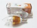 E14 AC85-265V 300lm warm white white 3w led candle bulb  4