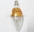 E14 AC85-265V 300lm warm white white 3w led candle bulb  5