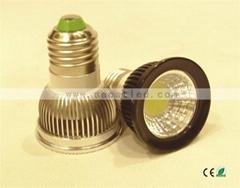 2013 New Hotsale GU10|E27|MR16 3W COB led spot light