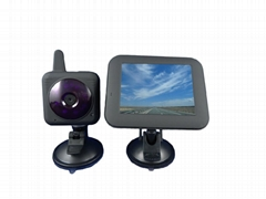 2013 wholesale price 2.4G Wireless Car baby monitor with 3.5 inch LCD