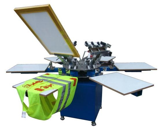 T Shirt Printing Machine For Sale >> 4 Color Manual T Shirt Screen Printing Machine On Sale Sg 3m