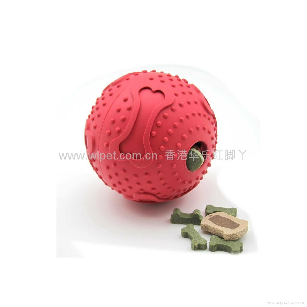 橡胶骨纹喂食球 1