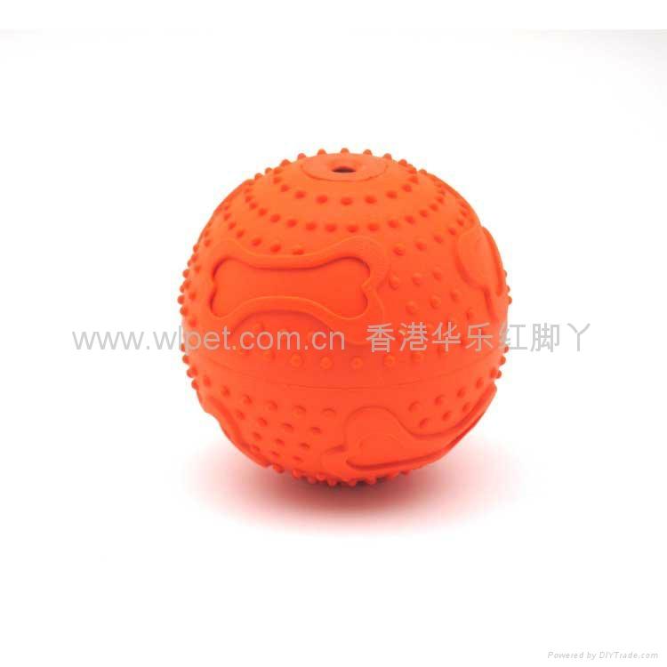 橡胶骨纹发声球 1